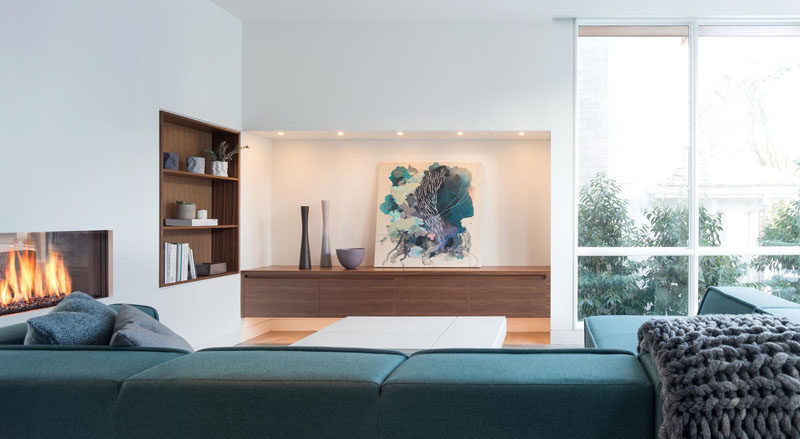 8 Inspirational Examples Of Built-In Shelves Lined With Wood