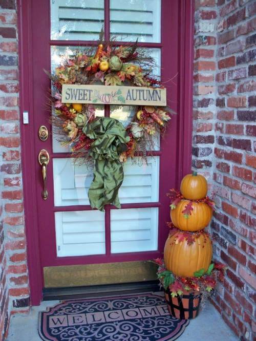 """""""Sweet Autumn"""" is one of those phrases you could add to a door sign."""