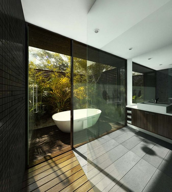glass-bathroom-fused-with-nature-675x754 The 15 Newest Interior Design Ideas for Your Home in 2017