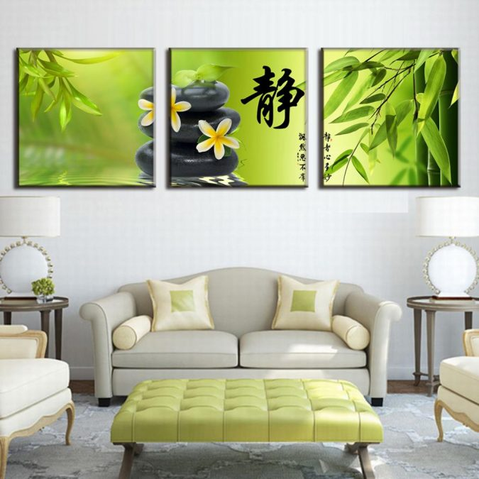Green-decor-Bamboo-Pebble-Canvas-Picture-Calligraphy-Wall-Pictures-for-Living-675x675 The 15 Newest Interior Design Ideas for Your Home in 2017