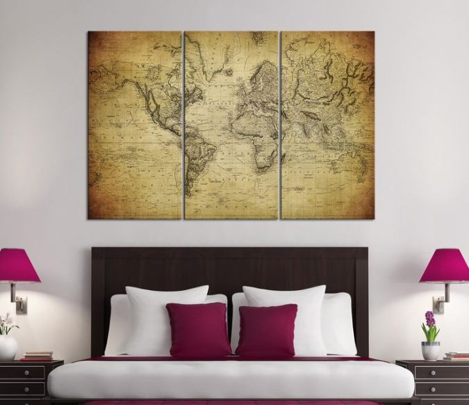 large-map-interior-design-675x582 The 15 Newest Interior Design Ideas for Your Home in 2017