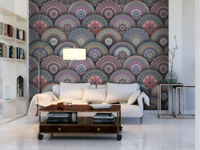 mandala-prints-wallpaper-interior-design-3-675x506 The 15 Newest Interior Design Ideas for Your Home in 2017