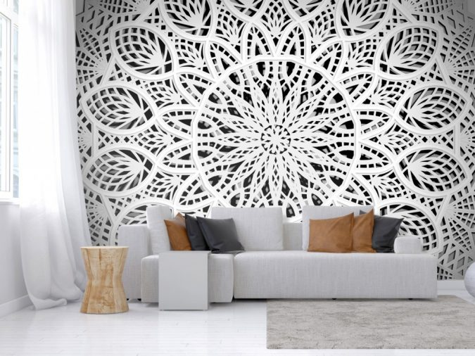 mandala-prints-wallpaper-interior-design-675x506 The 15 Newest Interior Design Ideas for Your Home in 2017