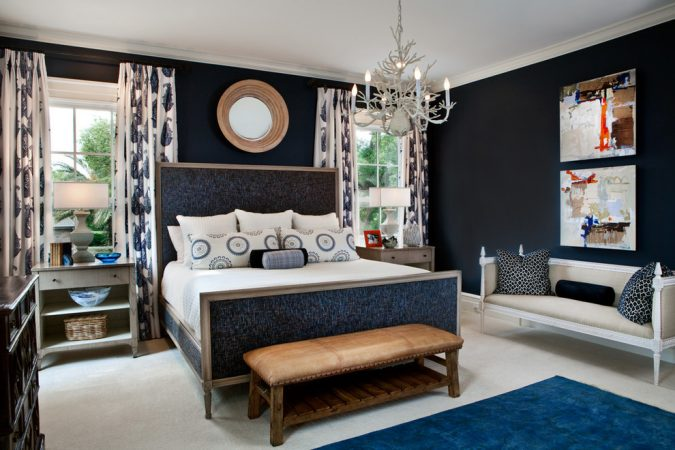 navy-blue-bedroom-home-interior-design-675x450 The 15 Newest Interior Design Ideas for Your Home in 2017