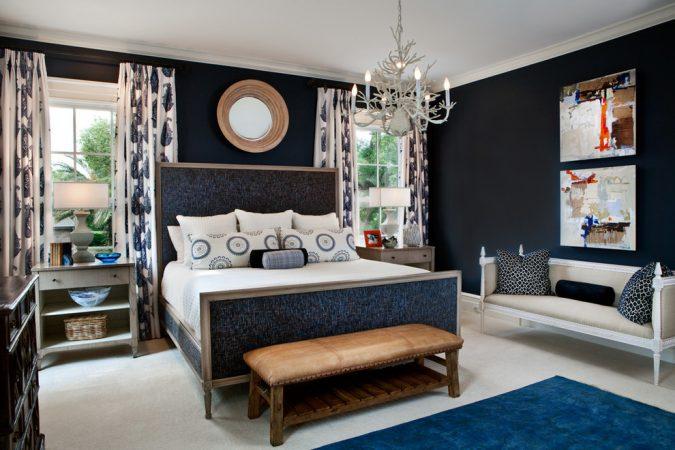 navy-blue-bedroom-home-interior-design-675x450 The 15 Newest Interior Design Ideas for Your Home in 2017