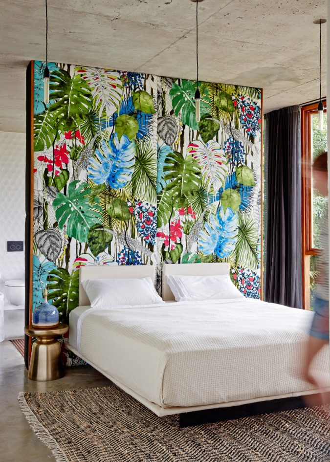 tropical-printed-wallpaper-675x945 The 15 Newest Interior Design Ideas for Your Home in 2017