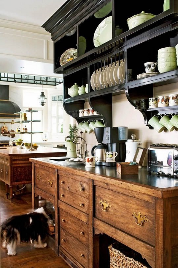 unique ideas kitchen decor ideas wooden cabinets open shelves