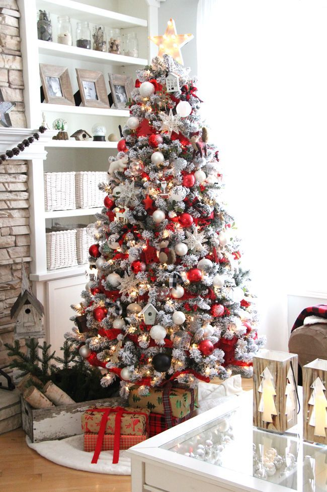 Classic-white-christmas-tree Top 10 Christmas Decoration Ideas & Trends 2018