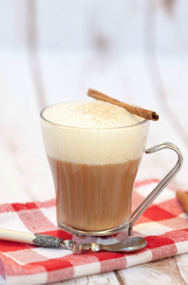 So much cheaper to make my own! Plus a lot less calories - Healthy Dairy Free Eggnog Latte Recipe #ad