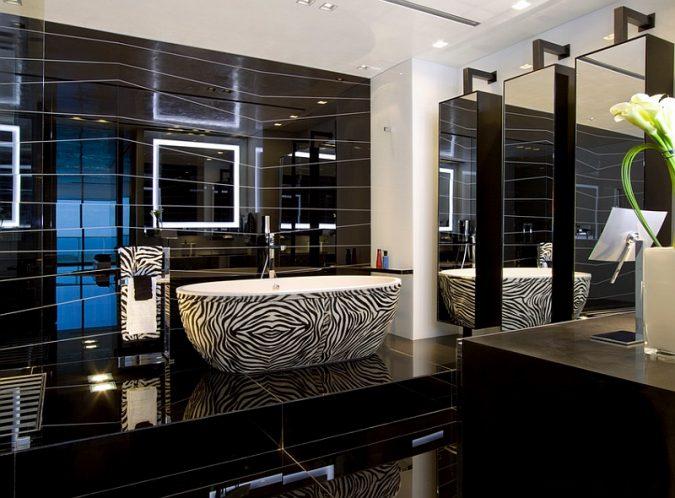 black-bathroom-675x498 Top 10 Master Bathrooms Design Ideas for 2018