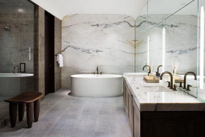 Marble-bathroom-675x453 Top 10 Master Bathrooms Design Ideas for 2018