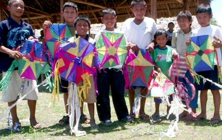 Children all over Guyana fly kites on Easter Sunday and Monday