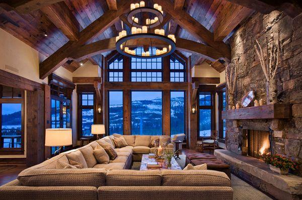Ξύλινα Δοκάρια Και Πέτρα – Ο Τέλειος Συνδυασμός Για Την Αίσθηση Του Εξοχικού Σπίτιου Καμπίνα.