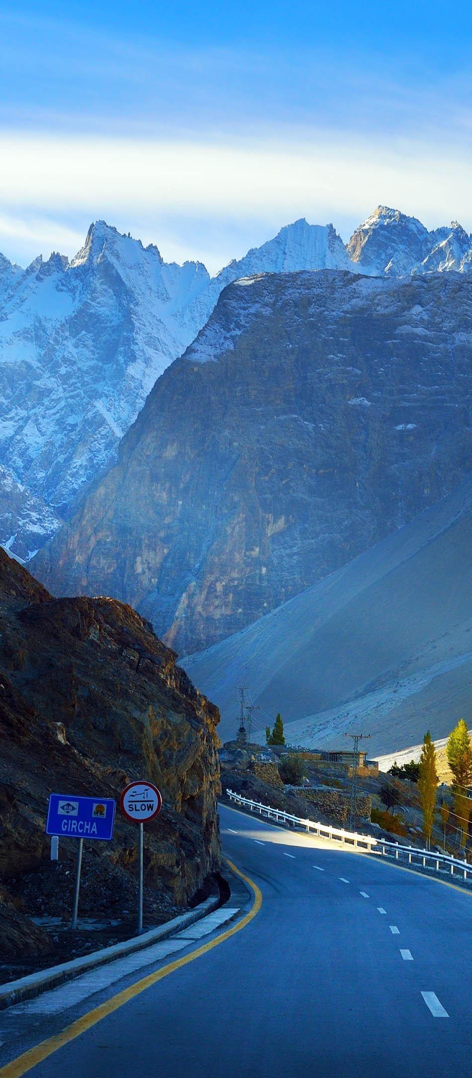 Karakorum highway. Autumn season in Northern Pakistan.   23 Roads you Have to Drive in Your Lifetime
