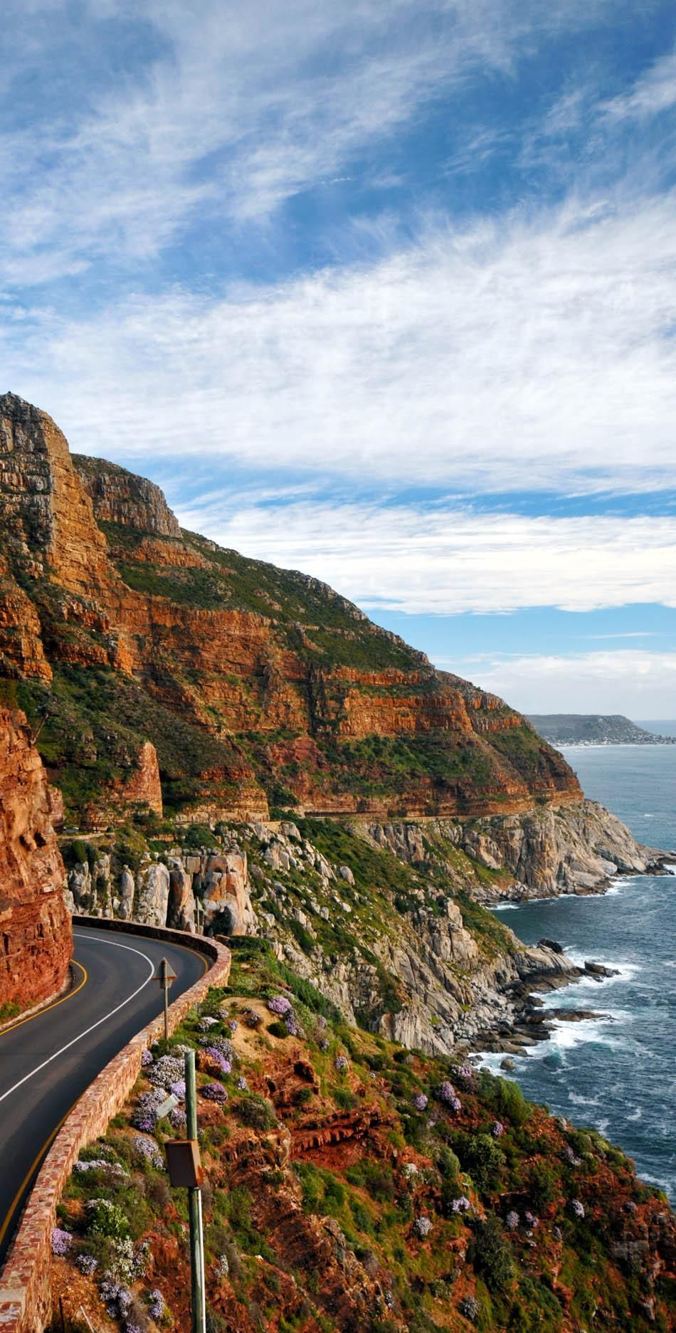 The famous Chapman's peak near Hout bay Cape Town South Africa. | 23 Roads you Have to Drive in Your Lifetime