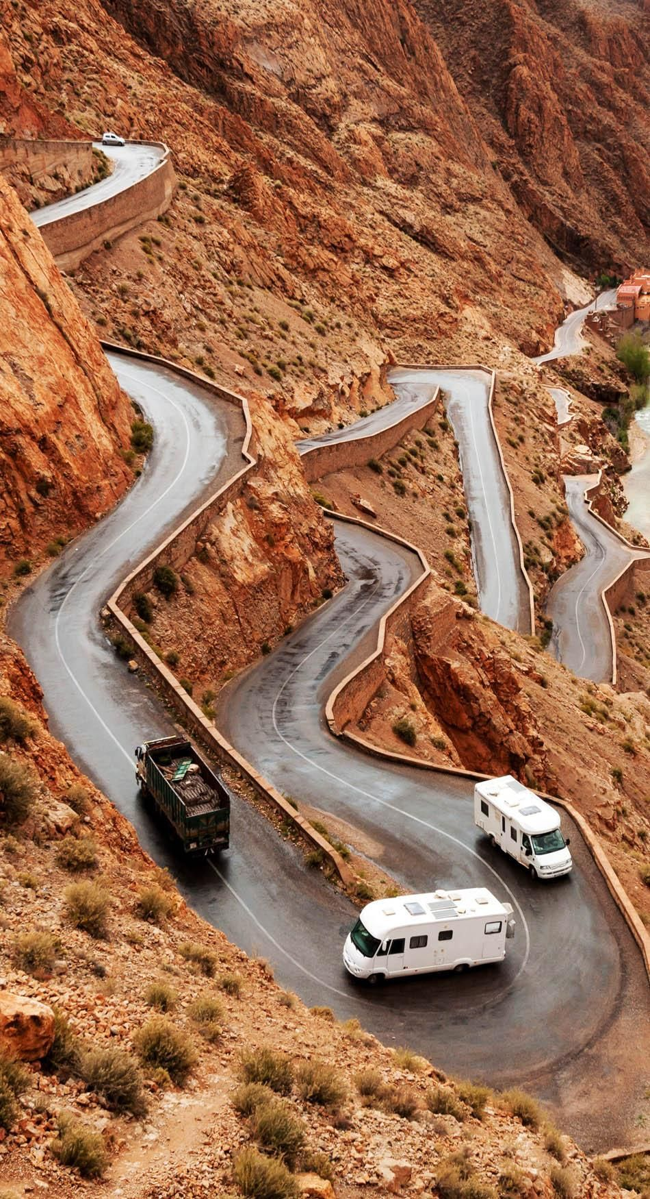 The famous Tizi n'Tichka pass in Morocco. | 23 Roads you Have to Drive in Your Lifetime