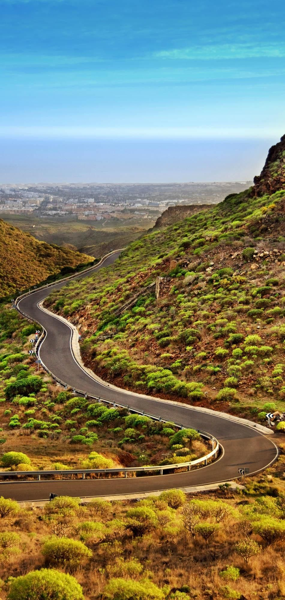 Winding Magnificent Road in mountains of Gran Canaria in Canary Islands | 23 Roads you Have to Drive in Your Lifetime