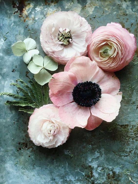 Spring Flower Arrangements pink poppies