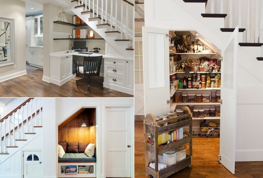 How to Use that Extra Space Under The Stairs