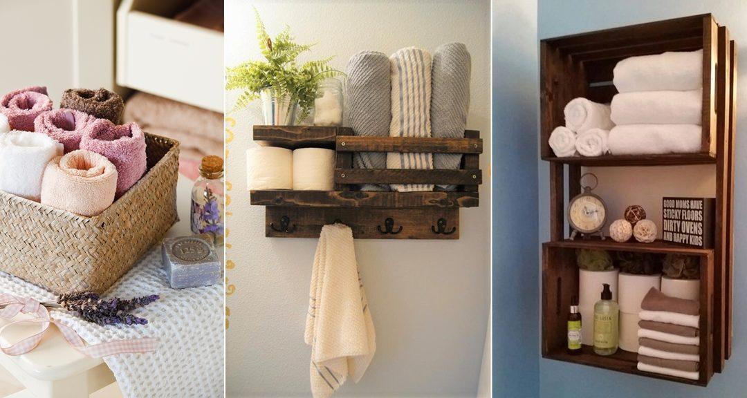 Ιδέες για να Αποθηκεύσετε Πετσέτες στο Μπάνιο Σας