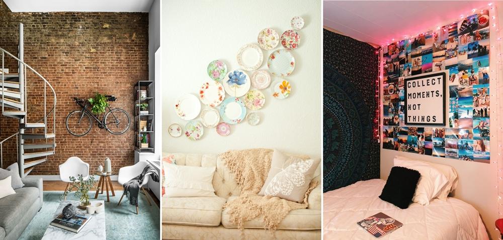 10 Εύκολες και Ασυνήθιστες Ιδέες για Διακόσμηση στον Τοίχο Για να Δοκιμάσετε στο Σπίτι σας