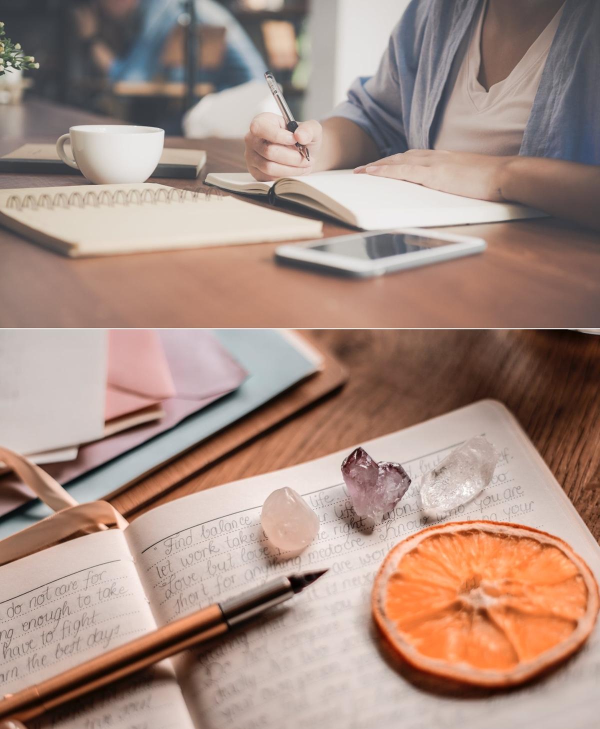 writing a journal to de-stress